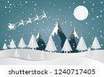 merry christmas santa claus...   Shutterstock .eps vector #1240717405