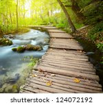 boardwalk in the park | Shutterstock . vector #124072192