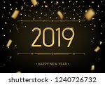 happy new year 2019 premium... | Shutterstock .eps vector #1240726732