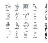 ice coffee  tea  jigger  jug ... | Shutterstock .eps vector #1240728562