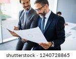 portrait of happy business... | Shutterstock . vector #1240728865