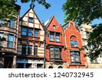 Brownstone House In Row In...