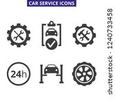 car service and repair icons...   Shutterstock .eps vector #1240733458