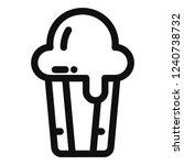 mini cake line icon