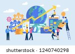 vector illustration .money ... | Shutterstock .eps vector #1240740298