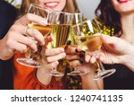 company with glasses of... | Shutterstock . vector #1240741135