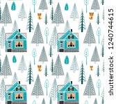 winter landscape seamless...   Shutterstock .eps vector #1240744615
