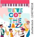 jazz concert or festival poster ...   Shutterstock .eps vector #1240748218