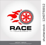 race wheel icon  race logo... | Shutterstock .eps vector #1240750012