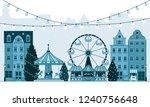 winter christmas fair market ... | Shutterstock .eps vector #1240756648