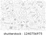 set of vector illustration... | Shutterstock .eps vector #1240756975