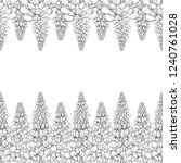 seamless pattern. plant in... | Shutterstock .eps vector #1240761028