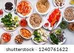 group plant based food diet... | Shutterstock . vector #1240761622