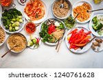 group plant based food diet... | Shutterstock . vector #1240761628
