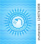 shower icon inside water... | Shutterstock .eps vector #1240761838