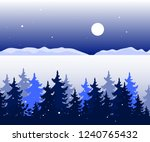 winter panoramic landscape with ... | Shutterstock .eps vector #1240765432