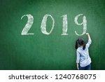 2019 class new calendar year...   Shutterstock . vector #1240768075