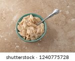a bowl of pasta with chicken in ...   Shutterstock . vector #1240775728