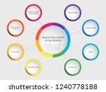 business vector slide template... | Shutterstock .eps vector #1240778188