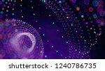 big data sphere visualization...   Shutterstock . vector #1240786735