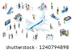 airport with passenger set.... | Shutterstock .eps vector #1240794898