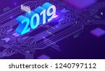 2019 technology concept with... | Shutterstock .eps vector #1240797112