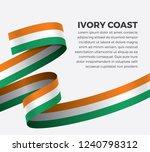 ivory coast flag  vector... | Shutterstock .eps vector #1240798312