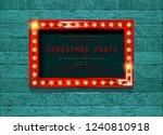 invitation merry christmas... | Shutterstock . vector #1240810918