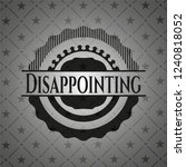 disappointing realistic black... | Shutterstock .eps vector #1240818052