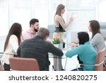 woman making a business... | Shutterstock . vector #1240820275