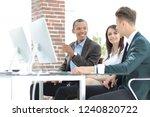 professional business team... | Shutterstock . vector #1240820722