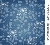 Denim Background With Ornate...