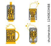 beer labels set isolated on...   Shutterstock .eps vector #1240823488