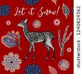 winter holidays pattern design.   Shutterstock .eps vector #1240824562