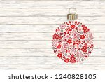 new years ball with ornament of ... | Shutterstock .eps vector #1240828105