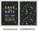 save the date. wedding... | Shutterstock .eps vector #1240834522