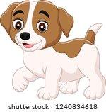 cute little dog cartoon... | Shutterstock .eps vector #1240834618