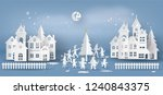 illustration of  merry... | Shutterstock .eps vector #1240843375