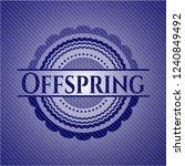 offspring emblem with denim... | Shutterstock .eps vector #1240849492