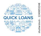 finance  money loan circle... | Shutterstock .eps vector #1240853248