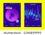techno music banner. sound... | Shutterstock .eps vector #1240859995