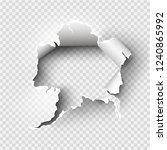 ragged hole torn in ripped... | Shutterstock .eps vector #1240865992