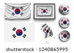 set of south korea flags... | Shutterstock .eps vector #1240865995