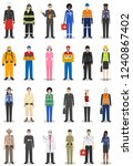 people occupation characters... | Shutterstock .eps vector #1240867402