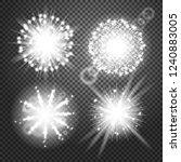 glowing lights effects... | Shutterstock . vector #1240883005