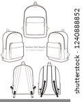 backpack design illustration... | Shutterstock .eps vector #1240888852