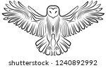 vector black and white flying... | Shutterstock .eps vector #1240892992