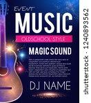 music concert toster template... | Shutterstock .eps vector #1240893562