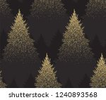 winter seamless pattern with... | Shutterstock .eps vector #1240893568