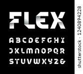 paper font. vector alphabet... | Shutterstock .eps vector #1240894228